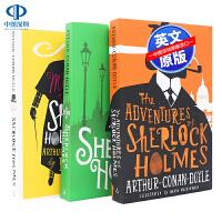 英文原版 福尔摩斯3册经典侦探悬疑小说 The Sherlock Holmes Stories Pack 中小学生课外英