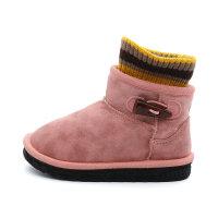 儿童雪地棉靴男童加绒保暖2018冬季新款宝宝鞋短靴女童靴子