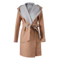 【1件3折�r:162,可�B券】美特斯邦威羊毛�L衣女格子�p面呢大衣�n版�赓|外套潮冬�b新款