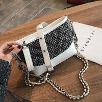 包包2019新款女包斜跨小包单肩手提小香风菱格链条包