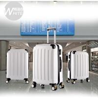 韩国学生可爱大拉杆箱23寸万向轮旅行箱女行李密码箱27寸30寸男 白色 011