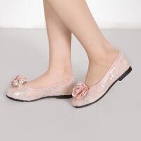 儿童公主裙皮鞋 单鞋 女童礼服凉鞋粉色公主鞋表演鞋演出鞋走秀