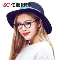 竹川木野复古圆框眼镜架 男女板材眼镜框潮 配黑框近视眼睛Z1610