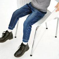 【3件2.5折到手价:44.75】米喜迪mecity童装冬新款男童牛仔裤加绒加厚复合牛仔长裤