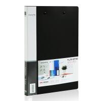 得力(deli)5302 实用文件夹 A4双强力夹 黑色 单只装