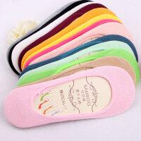 女春夏季超薄隐形船袜竹纤维棉糖果色低腰硅胶防滑落女士袜子多色