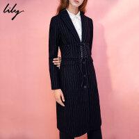 【每满200减100】Lily冬新款女装OL时尚通勤系绳拼接感腰带腰封117430LZ502