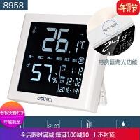 温度计家用室内婴儿房室外高精度电子精准温湿度计儿童带闹钟 自店营年货 有背光(负显屏)
