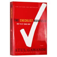 清单革命 英文原版 The Checklist Manifesto 阿图葛文德医生 进口原版英语书籍 全英文版