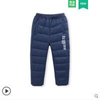 2018冬新款男童羽绒裤儿童女童幼小童宝宝加厚羽绒裤外穿