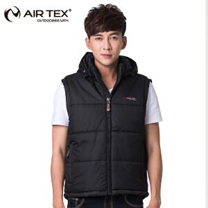 AIRTEX亚特户外男士夹克背心棉服冬保暖轻便保暖休闲男款马甲外套