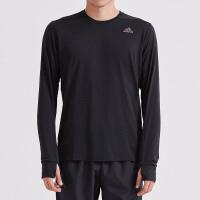 adidas阿迪达斯男子长袖T恤跑步训练透气运动服CZ8717