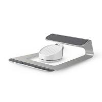 笔记本支架AP-1S铝合金电脑桌面支架带USB风扇电脑散热器底座 银色