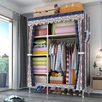 单人布艺衣柜简易布衣柜现代简约柜子组装挂衣柜牛津布儿童收纳柜