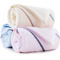 [当当自营]三利 纯棉彩虹缎大面巾超值3条装 洗脸毛巾