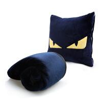 卡通抱枕被子两用汽车靠垫珊瑚绒沙发腰靠办公室午睡枕头空调毯子