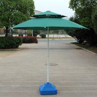 户外双顶太阳伞室外遮阳伞大型庭院伞双层防晒伞沙滩伞大号 --2.5米 红色--