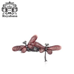皇家莎莎发夹发卡头饰品蜻蜓水钻横夹顶夹一字夹刘海夹马尾弹簧夹