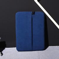 2018新款 电脑包苹果笔记本内胆包保护套磨砂PU皮手拿公文包手抓包14.1英寸手包