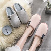 棉拖鞋女冬天情侣家居室内厚底防滑保暖家用男士秋冬季居家月子鞋