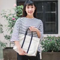 新款韩版潮帆布包复古文艺森系单肩包手提包简约小清新女包