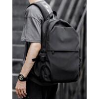 男士轻便双肩包大学生书包简约时尚17寸电脑背包休闲潮流旅行男包