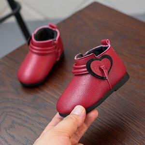 女小童休闲短靴子2018冬款韩版公主棉靴婴儿软底保暖鞋1-2岁
