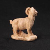 家居木雕手工无漆桃木羊摆件 生肖摆件