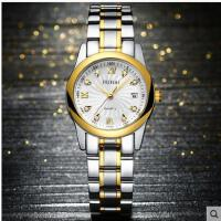手表女韩版时尚女表防水复古石英表防水钢带日历时装表