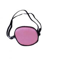桑蚕丝独眼眼罩 遮盖训练弱视 海盗单眼罩 单眼 粉色