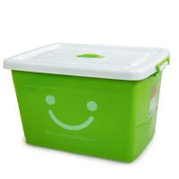 特大号塑料收纳箱衣服玩具透明储物箱有盖收纳盒带轮周转整理箱子