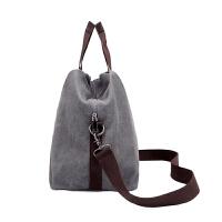 帆布包女包2018新款复古简约女士手提包单肩包斜挎包妈妈包大包包
