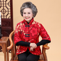 中老年女装冬装厚外套奶奶加绒棉衣中袖老年人妈妈装马甲棉袄