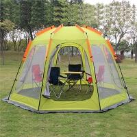 户外帐篷3-4人10人遮阳棚凉棚 野营露营烧烤沙滩自驾游 防雨防晒