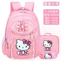 小学生女孩儿童书包1-3-6年级可爱公主双肩背包 6-12周岁透气减负
