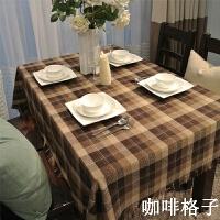英格兰格子餐桌布美式田园乡村咖啡厅茶几台布椅垫棉麻桌布布艺