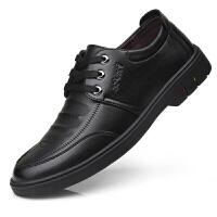 皮鞋男商务休闲鞋子男士英伦百搭透气潮流皮鞋韩版系带青年鞋子男 2719 黑色