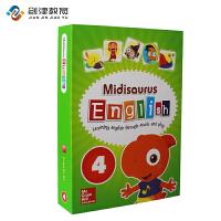 Midisaurus English 4 学生包 麦格劳希尔出版社进口米迪英语4级别幼儿启蒙英语教材培训班教材 买10