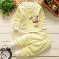 1-2-3岁婴幼儿童小孩宝宝春秋长袖长裤套装家居内衣服装