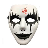 万圣节化妆舞会手绘白色鬼步舞面具男街舞面具恐怖面具鬼舞步面具