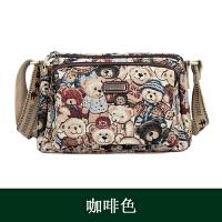 韩版时尚多隔层斜挎包帆布小熊大容量单肩包妈妈包大包包维尼女包SN8570