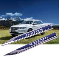 VOLVO沃尔沃车贴S60V60S80XC60XC90改装车标叶子板刀锋字标车身贴