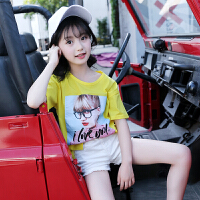 女童t恤夏装新款短袖女孩时尚大童夏季儿童装