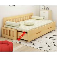 实木沙发床可折叠沙发多功能沙发书房坐卧两用沙发床客厅双人沙发 1.8米-2米
