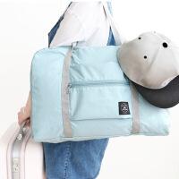 旅行袋折叠大容量收纳字母款便携轻薄韩版手提包拉杆短途行李袋 大