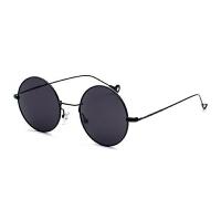 复古民国圆形框太阳眼镜墨镜太子镜社会汉奸瞎子盲人师爷男女小