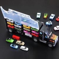 儿童停车场玩具收纳盒货柜车运输车大货车玩具汽车套装模型男孩礼