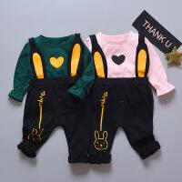 男童女童春秋装女宝宝秋季0-3岁婴儿衣服运动套装新生儿