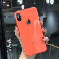 苹果6变8手机壳电镀软边iPhoneX防摔保护套原机8plus简约7变8软7p 苹果xsmax珊瑚色 6.5寸
