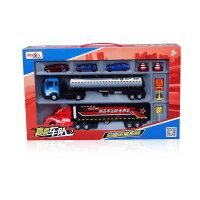 合金汽车模型玩具运输车货柜车儿童玩具套装仿真车男孩礼物 路运输B系列 油罐车 114